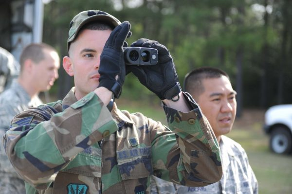 rangefinder use in military exercise